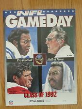 NEW YORK JETS vs NEW YORK GIANTS Aug 22 1992 Program MO LEWIS LAWRENCE TAYLOR