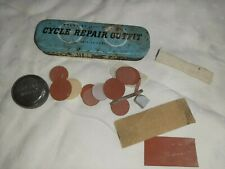 Vintage Antique Weldtite Cycle Repair Outfit Puncture Kit Tin Contents Bicycle