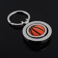 Rotating Basketball Keyring Keychain Key Chain Key Ring Fob Ball LO
