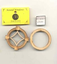 Window - Spider Style - 2145 round wood dollhouse miniature 1:12 scale USA made