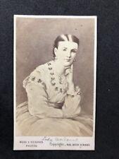 Rare Victorian Carte De Visite CDV Meek & Hughes: Lady Mordaunt: Royal Mistress?