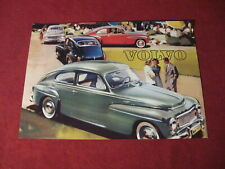 1959? Volvo Sales Sheet Brochure Booklet Catalog Old Original Book