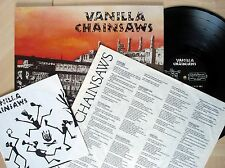 """Vanilla Chainsaws + 7"""" + Inner German LP Glitterhouse GR 0053 1989 EX/EX+"""