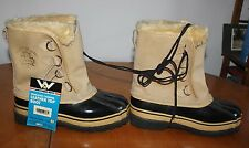 Weather Rite Insulated Cordova Leather Boots & Wool Liners Sz. 8 Mod. No. 4094M
