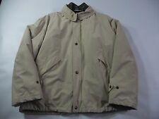 Giorgio Armani Beige lined Waterproof Jacket Coat Women's Size 42 Made in Italy
