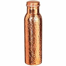 Pure 100% Copper Ayurveda Health benefit Hammered Water Bottle Container- 1L