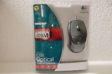 Logitech V100 Optical USB Mouse 2-Button Scroll-Wheel Tilt Zoom 931641-0403 NEW
