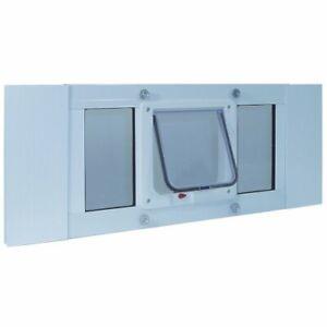 """Ideal Pet Products Aluminum Sash Window Pet Door Adjustable Width 27"""" to 32"""" ..."""