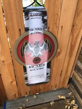 Large metal bacardi silver sign