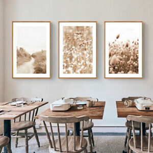 Home Hanging Decor Print Paper Canvas Wall Art Walk to beach 3 sets Poster