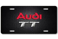 AUDI TT Aluminum Bump Carbon Metal Car Auto License Plate Tag Abstract Art New