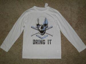 THE CHILDREN'S PLACE BRING IT Skull Baseball Shirt Size XL(14)~ New!