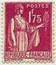 "FRANCE STAMP TIMBRE N° 289 "" TYPE PAIX 1 F 75 ROSE LILAS "" NEUF x TB"