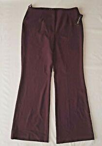 INC International Concepts Pants Women's Plum Bordeaux Size 12 Wide Leg New
