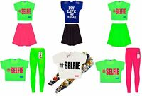 Girls Neon Dress Kids Party Dresses New Age 7 8 9 10 11 12 13 Years