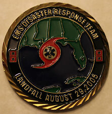 Hurricane Katrina US Worst Natural Disaster EMS Challenge Coin Military/EMT   Br
