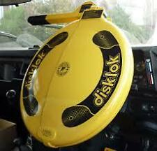 DISKLOK SECURITY STEERING WHEEL LOCK SMALL YELLOW RHD