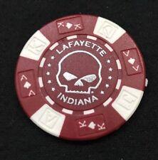 Lafayette, Indiana Hunters Moon Harley Davidson Poker Chip / Red