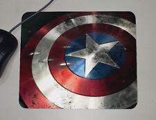 Captain America Shield - Marvel Comics Superheros - USA - Custom Name Mouse Pad