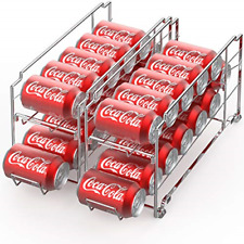 Canned Food Dispenser Can Organizer Refrigerator Soda Coke Storage Rack 2 Pack