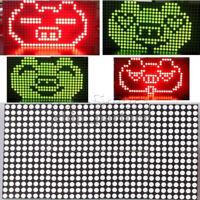 16x32 Red Green Dual-Color LED Dot Matrix DIY Kit Control Display Module