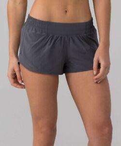 """Lululemon size 4 Hotty Hot Shorts II 2.5"""" Carbon Gray"""