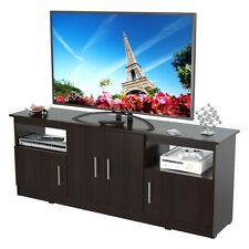 Contemporary 60 Inches Flat-Screen Tv Stand - Finished In Espresso-Wengue NEW