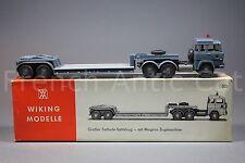 U541 Wiking modelle ho Tieflader Magirus 235 D 503 camion porte engin TP 1976