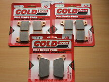 GOLD-FREN FRONT & REAR BRAKE PADS For: HONDA CBR600 RR (2009-2012) ABS CBR600RR