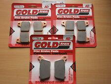 GOLD-FREN FRONT & REAR BRAKE PADS For: HONDA CBR 600 RR (2007-2012) CBR600RR