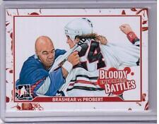DONALD BRASHEAR VS. BOB PROBERT 10/11 ITG Enforcers Bloody Battles #64 Card