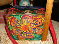Vtg Art Hp 3D Bead Cross Body Handbag Purse Last Listing Will Not Be Back Thanks