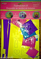 Arts & Crafts FOAM PRINCESS CASTLE Picture Kit ~  No Glue Required ~ Ages 4+