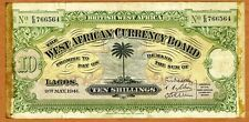 British West Africa, 10 shillings, 1941, P-7b, WWII > Military History Piece