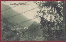 BERGAMO RONCOBELLO 05 VAL BREMBANA Cartolina viaggiata 1925