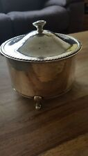 solid silver birmingham biscuit tin by a e jones weighs approx 11 3/4 troy oz