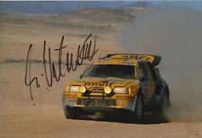 Ari Vatanen Hand Signed 12x8 Photo Peugeot Rally 3.