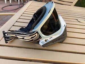 RARE JT ProFlex Spectra Paintball Goggles Mask Light Baby Blue Retro
