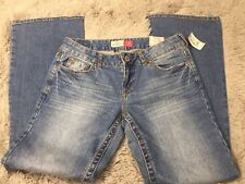 Aeropostale womens Hailey Skinny Flare Jeans Curvy Fit  9/10 short light wash