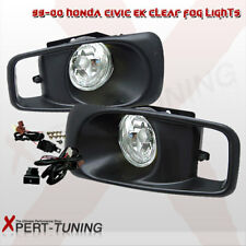 Fits 99-00 Honda Civic EK JDM Driving Fog Lights Lamps Kit Clear Lens