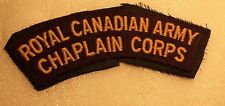 CANADIAN WW2 SHOULDER FLASH- ROYAL CANADIAN ARMY CHAPLAIN CORPS