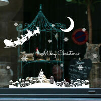 Christmas Restaurant Mall Decoration Snow Glass Window Removable Wall Sticker