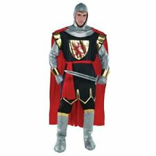 Adult Brave Crusader Costume Deluxe Mens Medieval Knight Fancy Dress