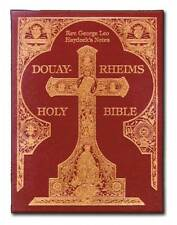 Douay-Rheims Haydock Bible Hardbound Gold Embossed traditional Catholic NEW