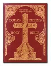Douay-Rheims Haydock Bible Hardbound Gold Embossed traditional Catholic New