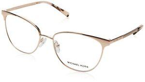 Michael Kors Eyeglasses 0MK3018 1194 ROSE GOLD-TONE, 54/17/140