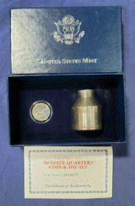 2001 NC Denver UNITED STATES MINT 50 STATE QUARTERS COIN & DIE SET  (2063)
