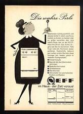 3w119/ Alte Reklame - ca. 1960 - NEFF - Herd - Kühlschrank - Waschmaschine