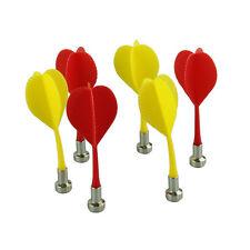 6Pcs Exquisite Bullseye Target Game Plastic Wing Magnetic Darts Needle