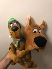 X2 Lot SCOOBY DOO Scrappy Doo W/ Hat Plush Stuffed Animal Dog Doll Six Flags Toy